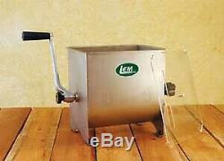 LEM Stainless Steel Meat Mixer 20lb Capacity Mixer with Plastic Cover