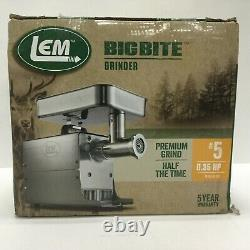 Lem Products Meat Grinder #5.35hp Electric Big Bite Stainless Steel 17771
