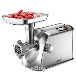 Magic Mill MMG-3001 Stainless Steel Electric Meat Grinder Sausage Maker Set