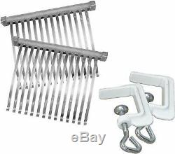 Manual Meat Cuber Tenderizer Heavy Duty Aluminum Stainless Steel Blades Compact