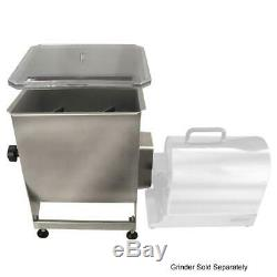 Manual Meat Mixer Stainless Steel 44 Pound Capacity Weston Removable Mixing NEW