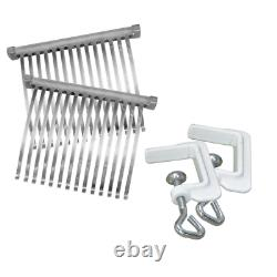 Meat Cuber 31stainless steel blades combs &tongs 2 c-clamps food grade coating
