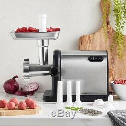 Meat Grinder Electric Beef Mincer Stainless Steel Food Sausage Heavy Duty