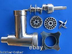 Meat Grinder for Waring Luna WSM20L WSM10L Planetary Stand Mixers Stainless Stl