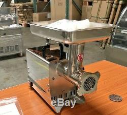 NEW Commercial Electric Meat Grinder Stainless Steel Heavy Duty Counter Top NSF