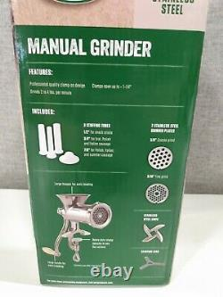 NEW LEM Manual Stainless Steel Clamp-On Grinder