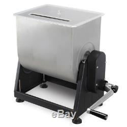 NEW Meat Mixer Commercial Stainless Steel Manual Tub 7 Gallon, 44 Lbs Capacity