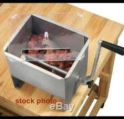 NEW in Opened Box Cabela's Stainless Steel Manual Meat Mixer 20 lb Capacity