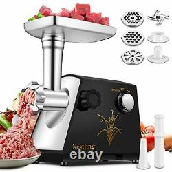 Nestling Powerful 2800W Electric Meat Grinder/Mincer, Stainless Steel, 3 Plates