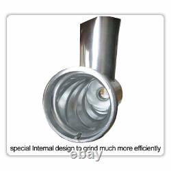 New 1HP Meat Grinder Mincer 3 Stainless Steel Plates 1 Pusher 3 Sausage
