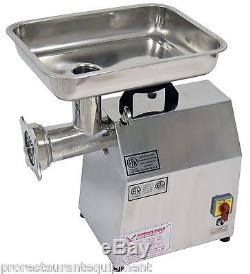 New American Eagle Ae-g22n 1.5hp #22 Commercial Stainless Steel Meat Grinder
