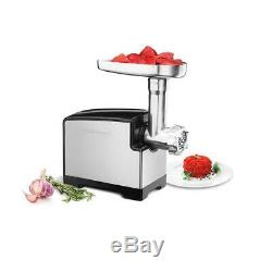 New CUISINART Electric MEAT GRINDER Brushed Stainless Steel On/Off Switch 300W
