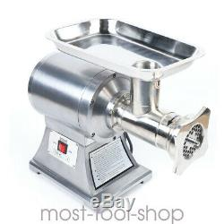 New Commercial Grade Meat Grinder Stainless Steel 1.5HP 1100W Stainless Steel