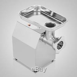 New Commercial Stainless Steel Electric Meat Grinder Sausage Stuffer 4.5Lbs/Min