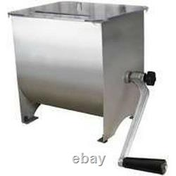 New Weston 36-1901-w 20lb Stainless Steel Meat Mixer 1828151 Hand Operator