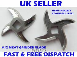 No 12 Meat Mincer Blade Mincer Stainless Steel Salvador Style OEM Quality