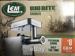 ON SALE LEM Products 17791 Big Bite #8.5HP Stainless Steel Meat Grinder