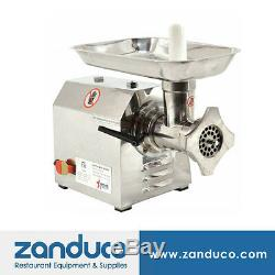 Omcan Commercial #12 Stainless Steel Meat Grinder with 0.87 HP MG-CN-0012-S ETL