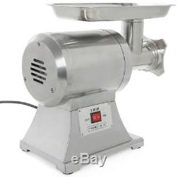 Portable Electric Industrial Meat Grinder Mincer Stainless Steel 1HP Size 12 New