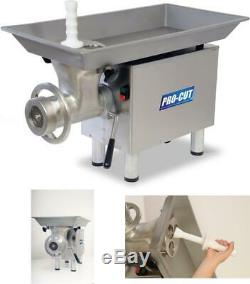 Pro-Cut Kg-22-W Meat Grinder, 1 Hp Motor, Stainless Steel Construction, Washerle