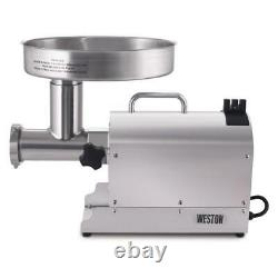 Pro Series #8 0.75 HP Stainless Steel Electric Meat Grinder