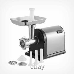 Professional Meat Grinder Stainless Steel Silver Meal Prep 600W Sausage Maker