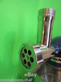 STAINLESS STEEL Meat Grinder for Kitchenaid Mixer by Smokehouse Chef