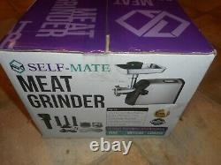 Self-Mate Electric Meat Grinder Stainless Steel Heavy Duty with 3 Grinding Plates