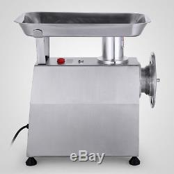 Stainless Commercial Meat Grinder 800W Mincer Heavy Duty 551lbs/h Kitchen