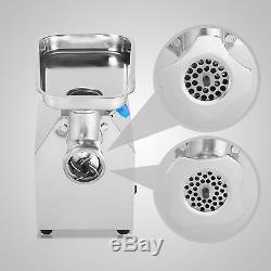 Stainless Commercial Meat Grinder 850W Mincer Heavy Duty with2 Blades Plates