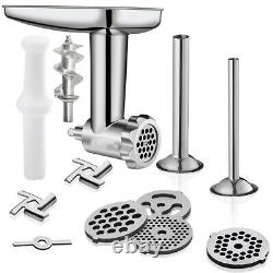 Stainless Meat Grinder Pasta Roller Attachment Kit For KitchenAid Stand Mixer US