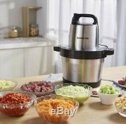 Stainless Steel Electric Meat Grinder Crushed Garlic Pepper cutter 220V 6L 1KW