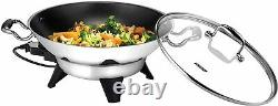 Stainless Steel Electric Wok 6 L Capacity 1800 W