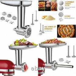 Stainless Steel Food Grinder Attachment fit KitchenAid Stand Mixers