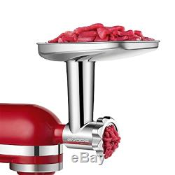 Stainless Steel Food Grinder Attachment fit KitchenAid Stand Mixers Including S