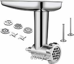 Stainless Steel Food Grinder Attachment fit KitchenAid Stand Mixers Including Sa