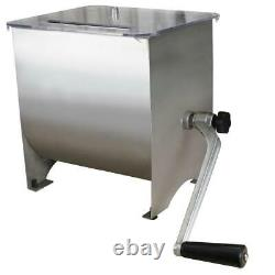Stainless Steel Manual Meat Mixer 20 lb Capacity