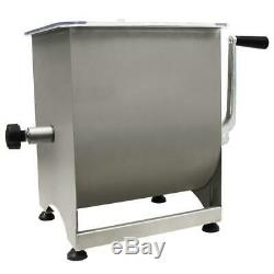 Stainless Steel Manual Meat Mixer 44 lb Capacity Meat Grinder Kitchenware Home