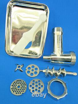 USED Original STAINLESS STEEL Meat Grinder for Kitchenaid by Smokehouse Chef