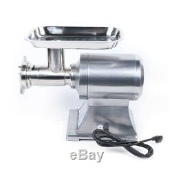 Upgrade Commercial Grade Meat Grinder Stainless Steel 1.5HP 1100W Electric
