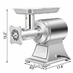 VEVOR Commercial Electric Meat Grinder 1100W Stainless Steel 550lbs/h Heavy Duty