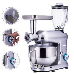 VIVOHOME 3 In 1 Stand Mixer 6QT Stainless Steel Bowl Food Meat Grinder Blender