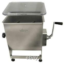 Weston 36-2001-W Professional Series Stainless Steel 44Lbs Manual Meat Mixer