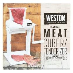 Weston Meat Cube Tenderizer Softener 31 Stainless Steel Blades Tongs Combs White