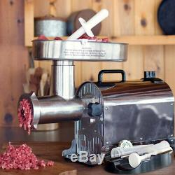 Weston Pro Series No. 22 Electric Stainless Steel 1.5 HP Butcher Meat Grinder