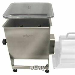 Weston Products Stainless Steel Manual Meat Mixer 44 lb Capacity, 36-2001-W