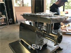 X 2 Meat Grinder Processor Heavy Duty Commercial Stainless Steel 2HP NSF